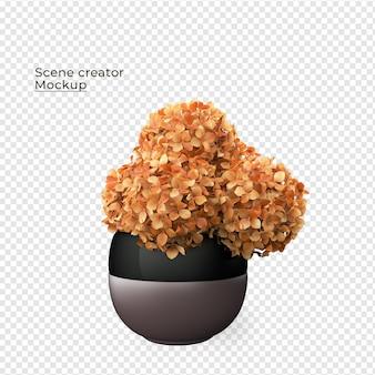 장면 창조자 화분에 심은 꽃 장식 디자인