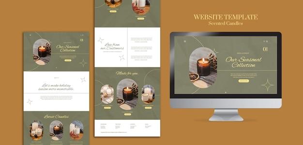 香りのキャンドルのウェブサイトのデザインテンプレート