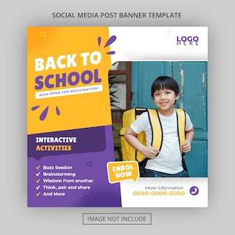 School admission academy education price fee template and activities and facilities