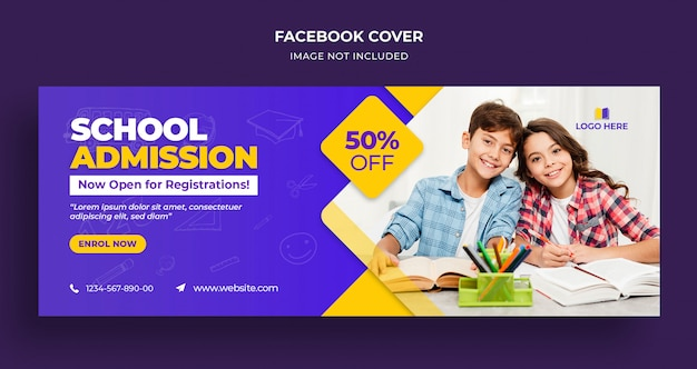 School admission facebook timeline cover and web template