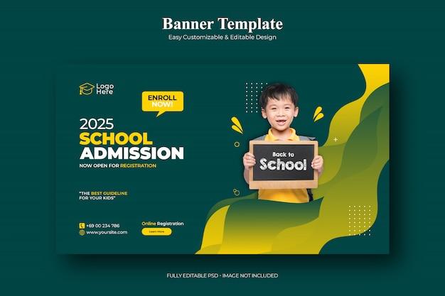 School admission social media post template Premium Psd