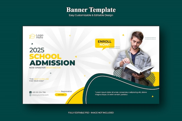 School admission social media post template