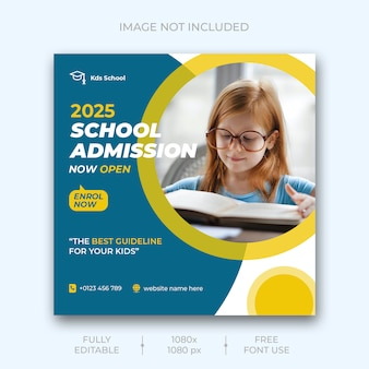 School admission social media post