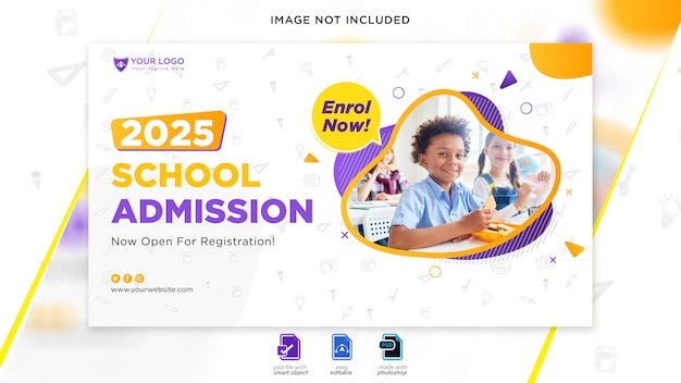 School admission web banner