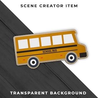 School bus transparent psd
