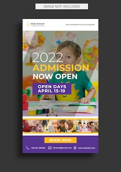 School education admission for instagram story template
