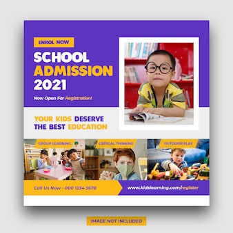 School education admission promotion social media post