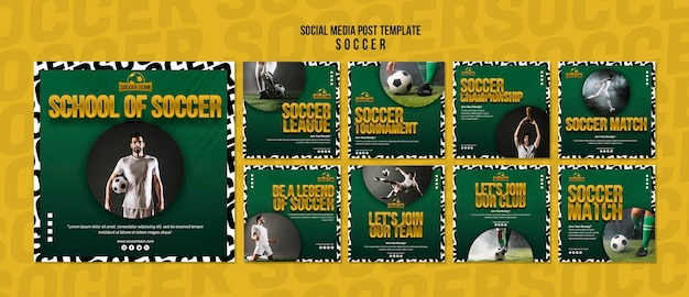 축구 학교 소셜 미디어 포스트
