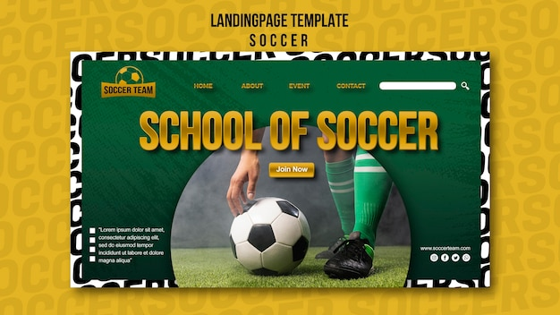 School of soccer landing page template