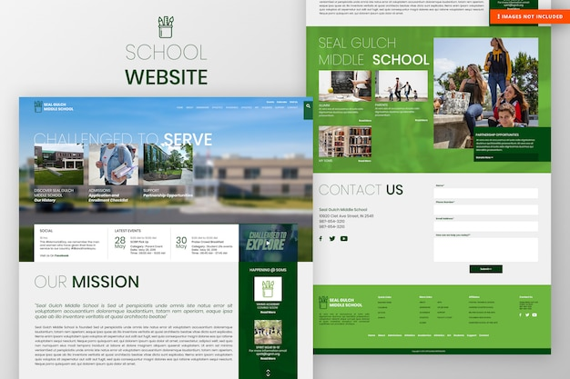 School website page