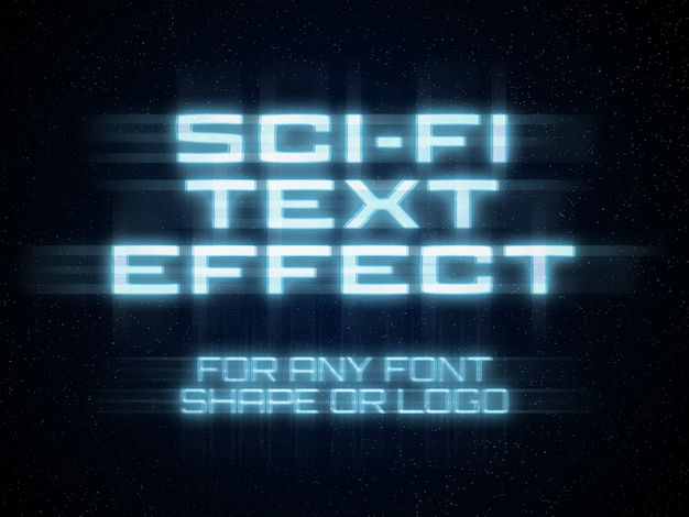 Sci-fi text effect