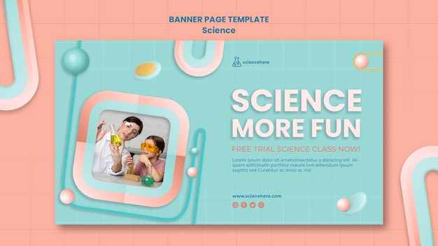 과학 수업 배너 서식 파일