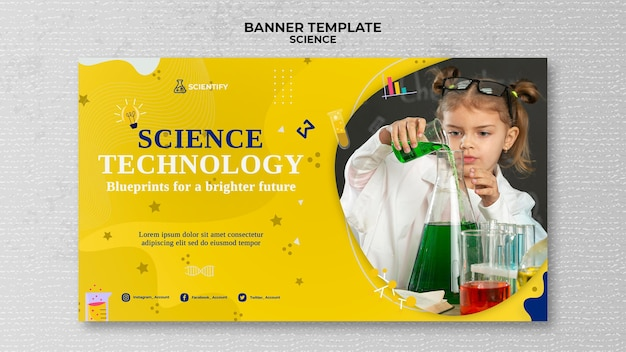Science class banner template