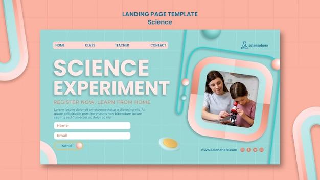 Pagina di destinazione del corso di scienze