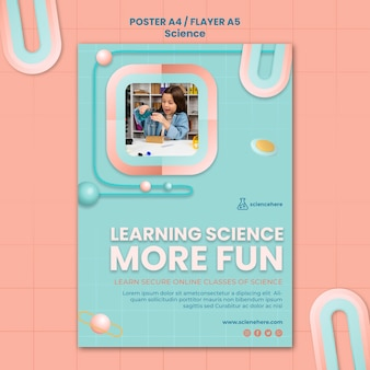 Science class poster template