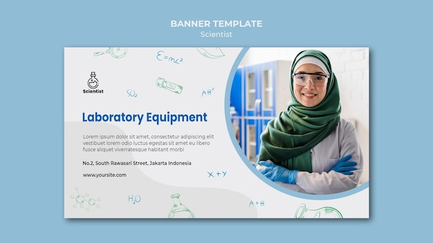 Science club template banner