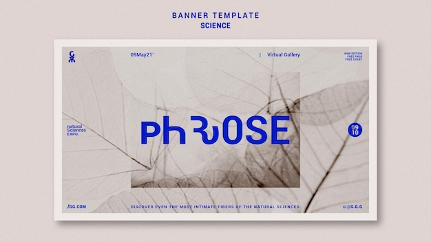 Science concept horizontal banner template