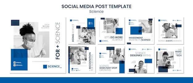 Science conference social media post