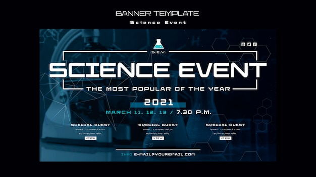 Science event banner template
