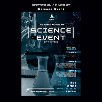 Science event poster template