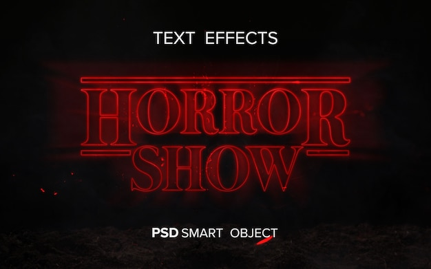 Science fiction text effect