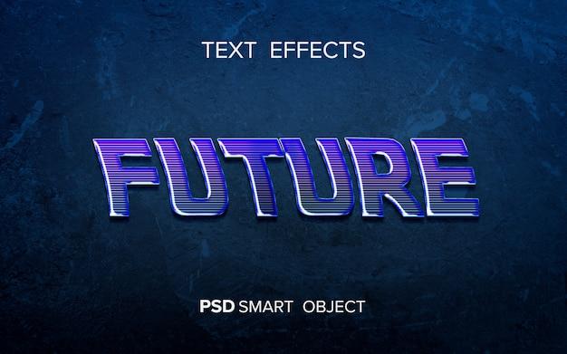 Текстовый эффект научной фантастики
