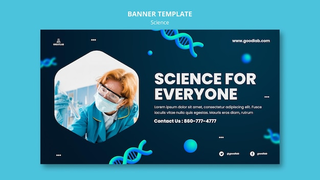 Science horizontal banner template