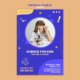Modello di poster di scienza