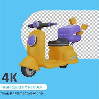 Доставка самокатов 3d рендеринг моделирования персонажей