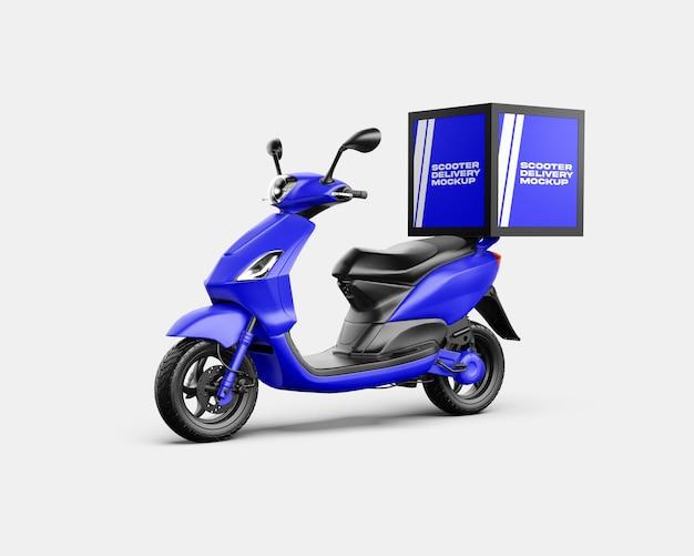 Дизайн мокапа для доставки скутера в 3d-рендеринге