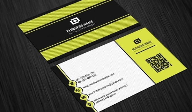 Scratch business card template