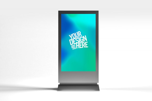 Screen advertisement display mock up