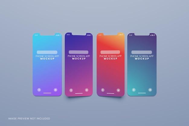 Макет презентации ui ux-приложения экрана телефона