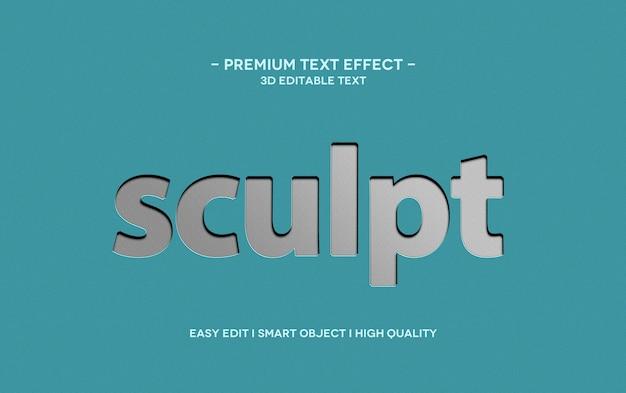 Sculpt 3d text style effect template