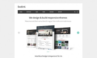 Seabird - Homepage HTML5 Template PSD