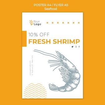 Modello di poster di concetto di frutti di mare