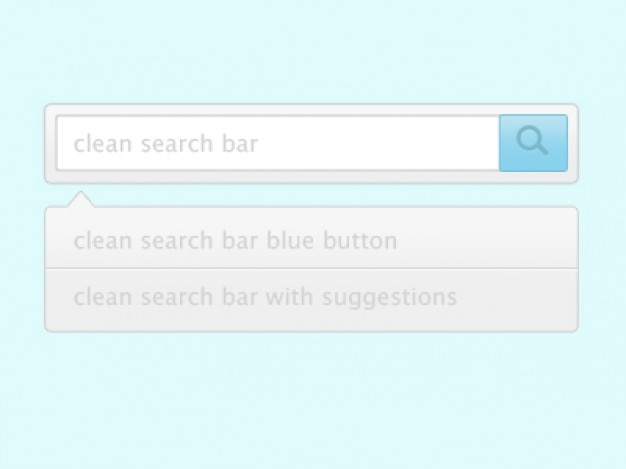 Search bar with suggestions