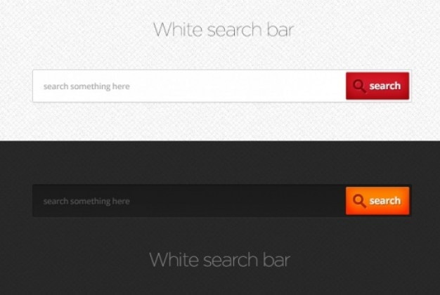 Search bars in dark or white style
