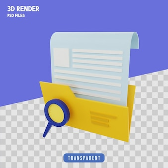 Поиск файлов 3d рендеринг изолированный премиум