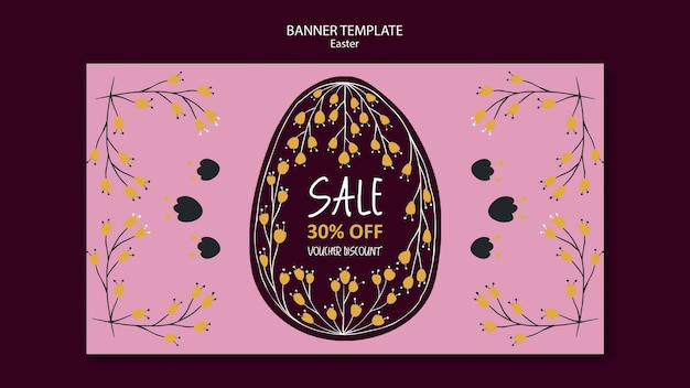 Seasonal easter voucher discount banner