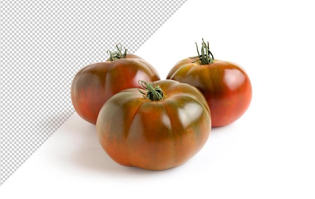 クリッピングパスで分離された季節のフレッシュトマト