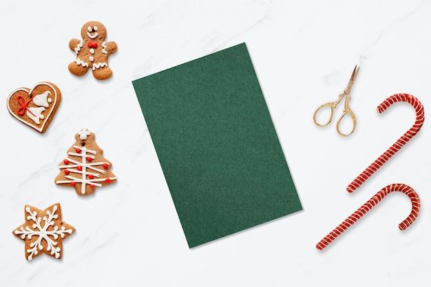 Сезонный шаблон поздравительной открытки