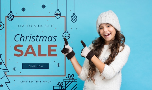 Seasonal sales offers mock-up