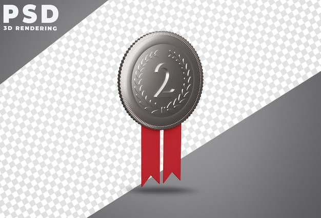 Серебряная медаль за второе место 3d рендеринг