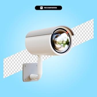 分離されたセキュリティカメラの3dレンダリングイラスト