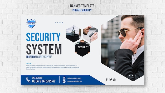 Security services banner template
