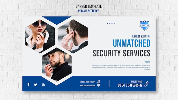 Security services template banner