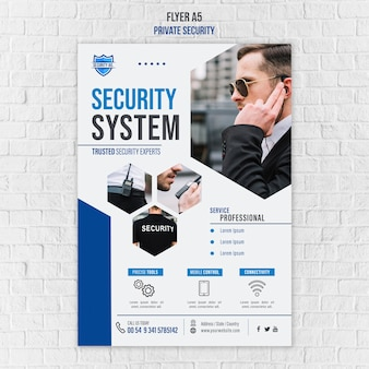 Security services template flyer