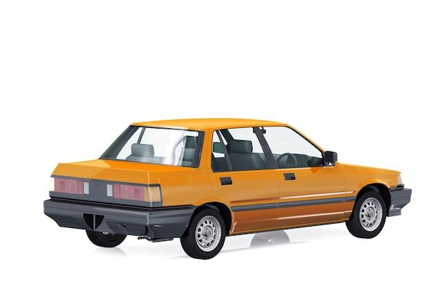 Sedan car 1983 mockup