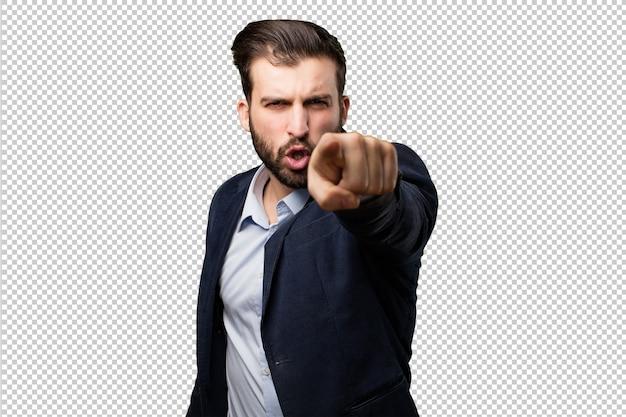 Senior beautiful woman disagreement pose